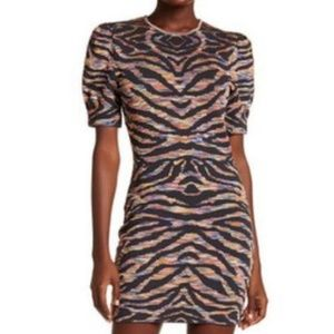 Free People Take Me Out Print Mini Dress L $168